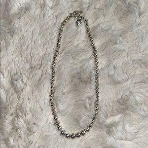 Ralph Lauren silver beaded necklace
